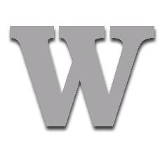 Letter W 150mm Serif