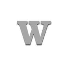 Letter W 90mm Serif