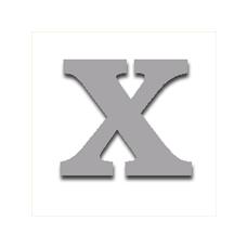 Letter X 120mm Serif