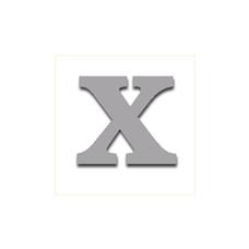 Letter X 90mm Serif
