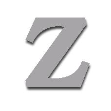 Letter Z 150mm Serif