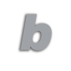 Letter b 70mm
