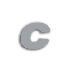 Letter c 70mm