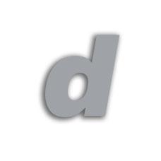Letter d 70mm