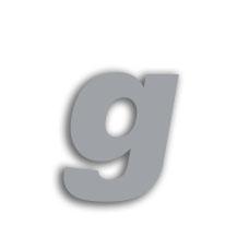 Letter g 70mm