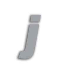 Letter j 70mm
