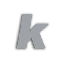 Letter k 70mm