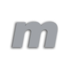 Letter m 70mm