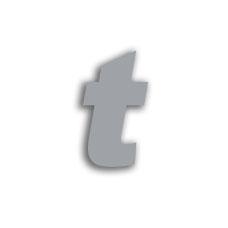 Letter t 70mm