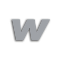 Letter w 70mm