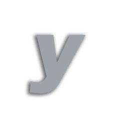 Letter y 70mm