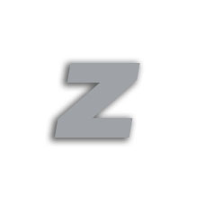 Letter z 70mm
