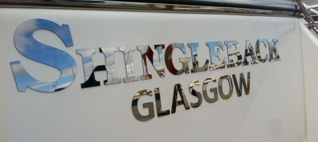 Customer pics for Boat names vinyl lettering